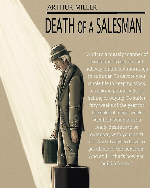 an analysis of the tragedy of one man in death of a salesman by arthur miller